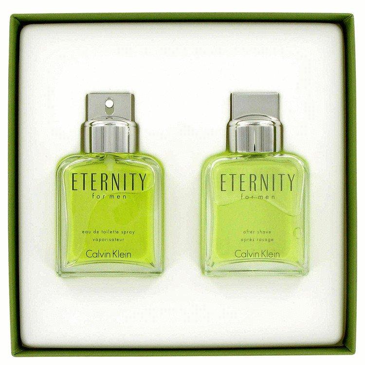 ETERNITY by Calvin Klein, Gift Set -- 3.4 oz Eau De Toilette Spray + 3.4 oz After Shave
