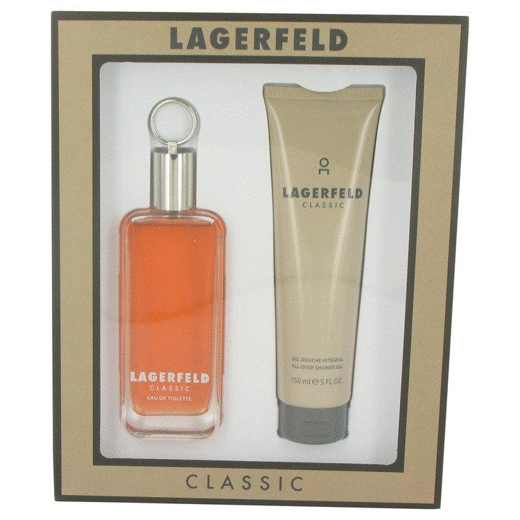 LAGERFELD by Karl Lagerfeld, Gift Set -- 3.3 oz Eau De Toilette Spray + 5 oz Shower Gel
