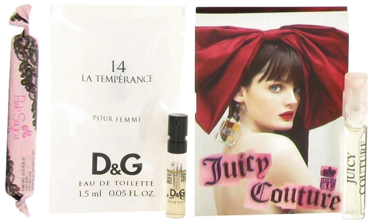 Bundle of Sensual Pink Sugar by Aquolina, Dolce & Gabbana's La Temperance 14 & Juicy Couture