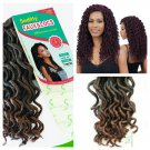 "CURLY FAUX LOCS PRE-LOOPED CROTCHET BRAID HAIR 18"" 24 STRANDS T1B/30"
