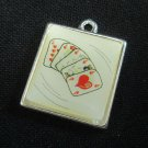 """Poker Cards Silver Charm Metal Pendant Necklace Bracelet Jewelry Finding 3/4"""""""