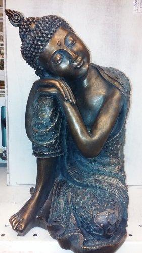 Resting Buddha Statue 15in