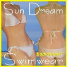 Bikini Swimwear with Bra cap, All White