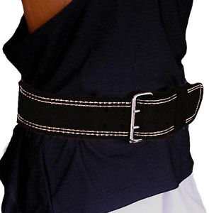 "Weightlifting Leather Back Support Belt 4"" Padded"