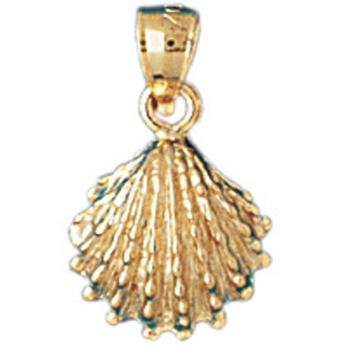 14K GOLD NAUTICAL CHARM - SHELL #1071