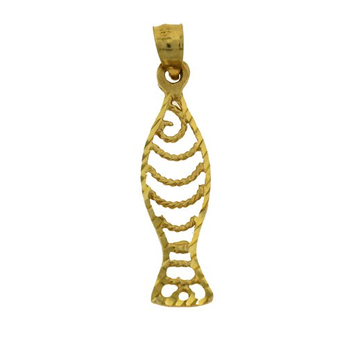 14K GOLD NAUTICAL CHARM - FISH #699