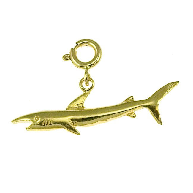 14K GOLD NAUTICAL CHARM - SHARK #918