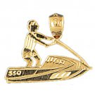 14K GOLD NAUTICAL CHARM - JET SKI #1347