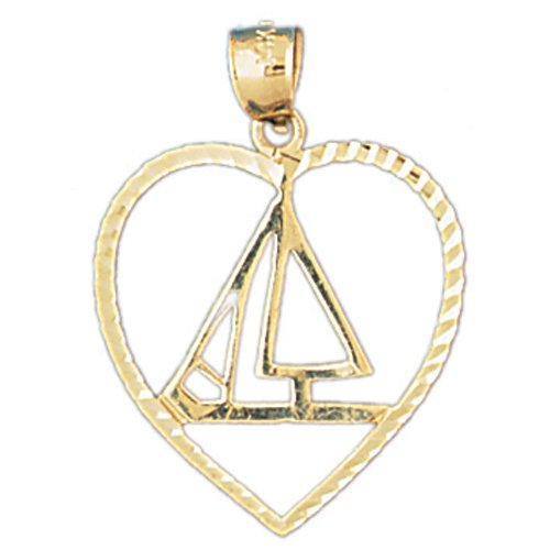 14K GOLD NAUTICAL CHARM - SAILBOAT #1154