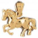14K GOLD ANIMAL CHARM - #HORSE #1825