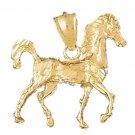 14K GOLD ANIMAL CHARM - #HORSE #1793