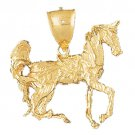 14K GOLD ANIMAL CHARM - #HORSE #1792