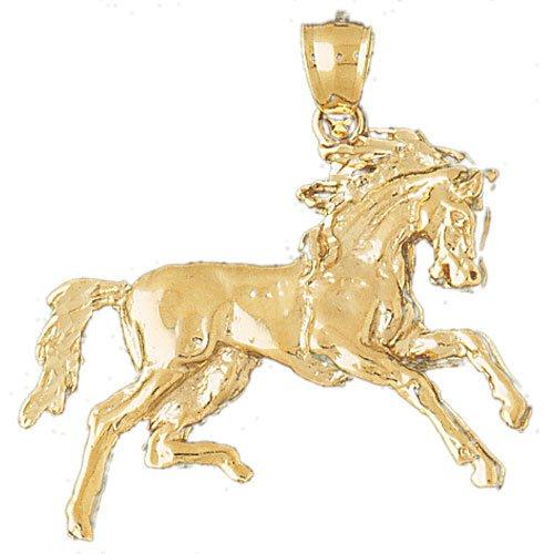 14K GOLD ANIMAL CHARM - #HORSE #1781