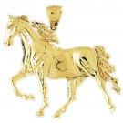 14K GOLD ANIMAL CHARM - #HORSE #1744