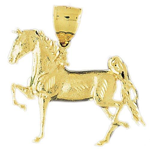 14K GOLD ANIMAL CHARM - #HORSE #1743