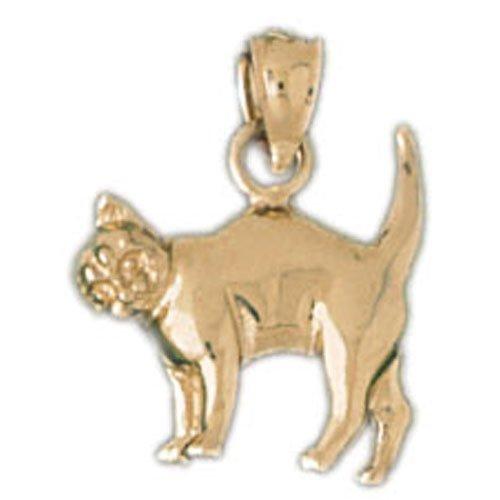 14K GOLD ANIMAL CHARM - CAT #1993