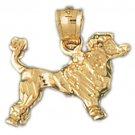 14K GOLD ANIMAL CHARM - DOG #2174