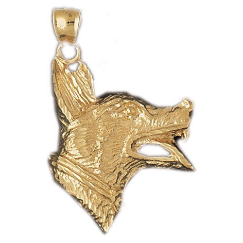 14K GOLD ANIMAL CHARM -DOG #2134