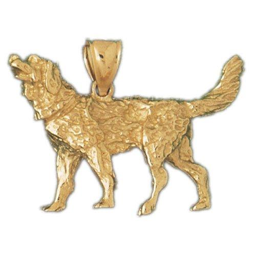 14K GOLD ANIMAL CHARM - DOG #2123