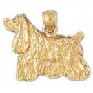 14K GOLD DOG CHARM / PENDANT - COCKER SPANIEL #2091
