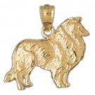 14K GOLD ANIMAL CHARM - DOG #2075
