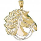 14K TWO TONE GOLD ANIMAL CHARM - HORSE #2281
