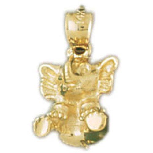 14K GOLD ANIMAL CHARM - ELEPHANT #2272
