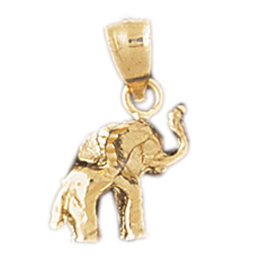 14K GOLD ANIMAL CHARM - ELEPHANT #2363