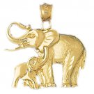 14K GOLD ANIMAL CHARM - ELEPHANT #2318