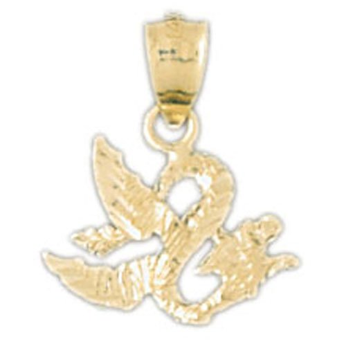 14K GOLD CHARM - CHINESE DRAGON #2386
