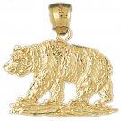 14K GOLD CHARM - BEAR #2545