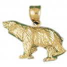 14K GOLD CHARM - BEAR #2544