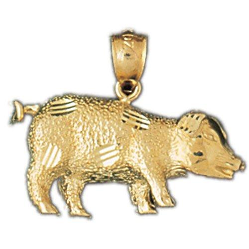14K GOLD CHARM - PIG #2561