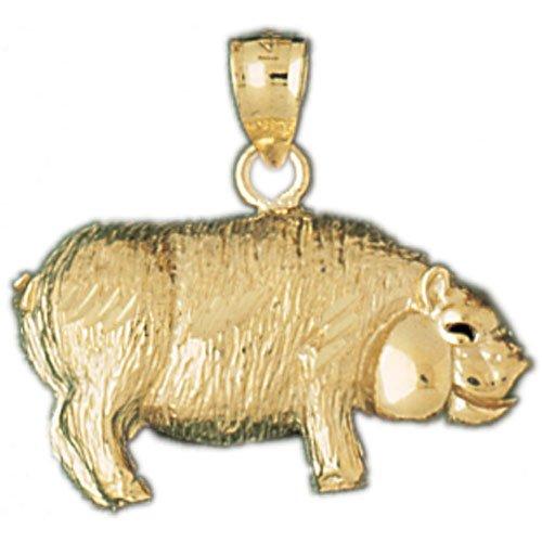 14K GOLD CHARM - PIG #2560