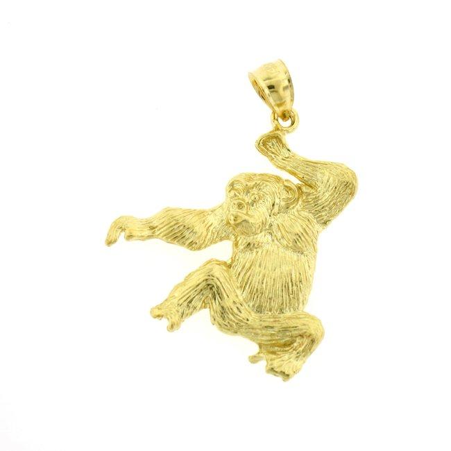 14K GOLD ANIMAL CHARM - MONKEY #2683