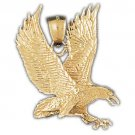 14K GOLD BIRD CHARM - EAGLE #2779