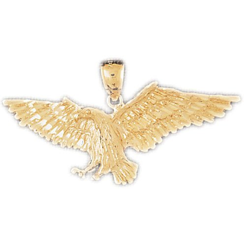 14K GOLD BIRD CHARM - EAGLE #2827