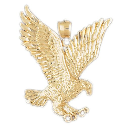 14K GOLD BIRD CHARM - EAGLE #2790