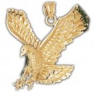 14K GOLD BIRD CHARM - EAGLE #2774