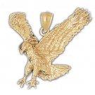 14K GOLD BIRD CHARM - EAGLE #2773