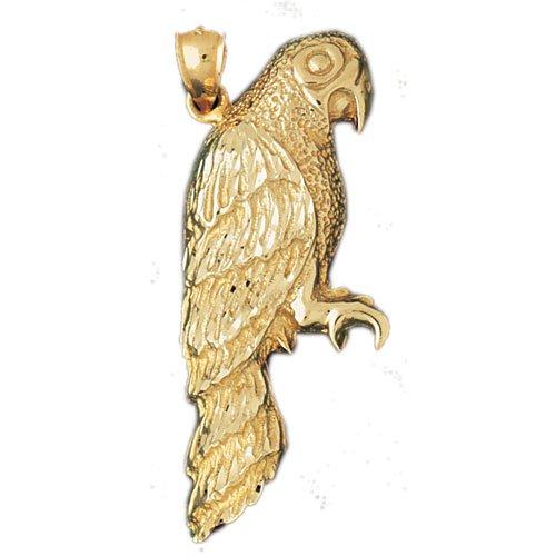 14K GOLD BIRD CHARM - PARROT #2881