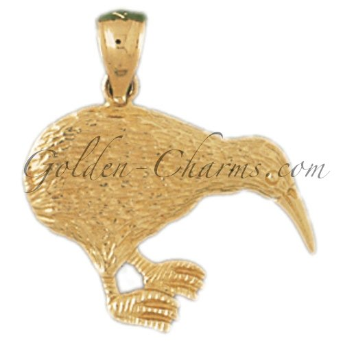 14K GOLD ANIMAL CHARM - BIRD #3022