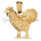 14K GOLD BIRD CHARM - COCK #2969