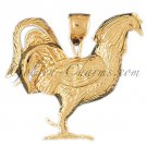 14K GOLD BIRD CHARM - COCK #2960