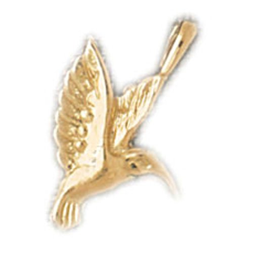 14K GOLD BIRD CHARM - HUMMINGBIRD #3037