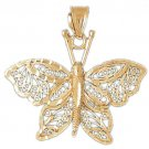 14K GOLD ANIMAL FILIGREE CHARM - BUTTERFLY #3149