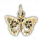14K GOLD ANIMAL FILIGREE CHARM - BUTTERFLY #3128
