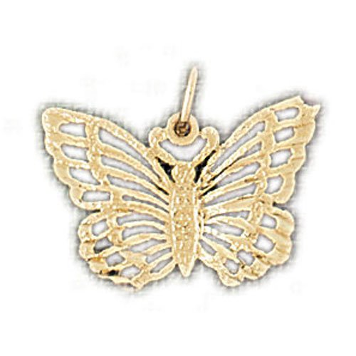 14K GOLD ANIMAL FILIGREE CHARM - BUTTERFLY #3125