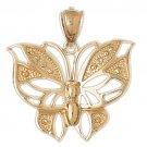 14K GOLD ANIMAL CHARM - BUTTERFLY #3090