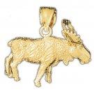 14K GOLD ANIMAL CHARM - MOOSE #2244